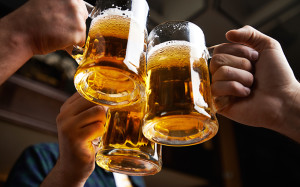 beer-drinking