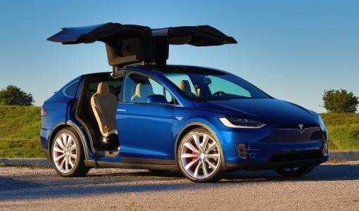 45 angle front Tesla Model X P90D 2016_0