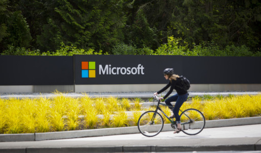 Microsoft Corp. Headquarters As Company Eliminates As Many As 18,000 Jobs
